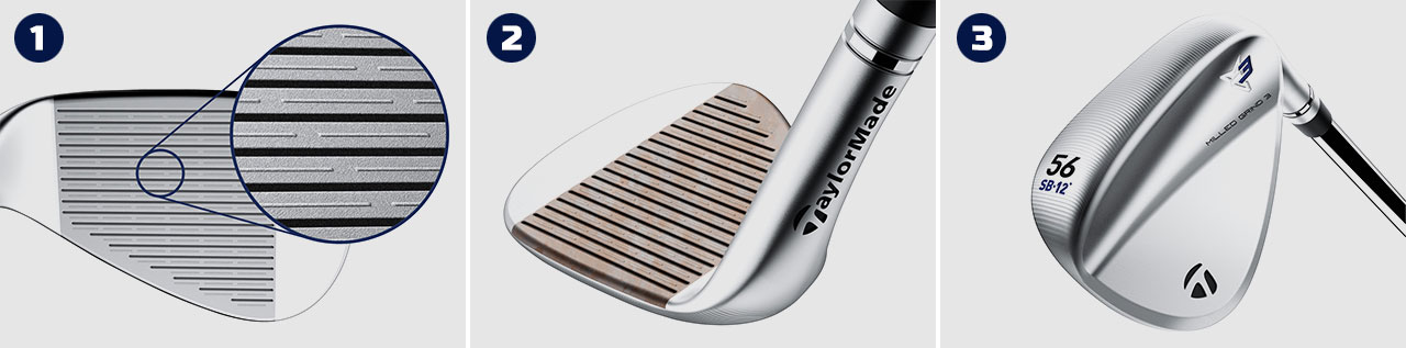 TaylorMade Milled Grind 3 Wedges - Tech